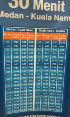 jadwal kereta medan kualanamu airport picture of airport railink rh tripadvisor com ph