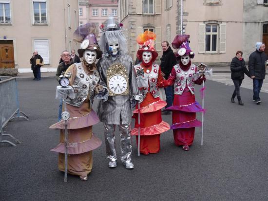 Residence Les Acacias : un des groupes costumés du carnaval de remiremont