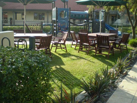 Regal Palms 5 Star City Resort: The patio area
