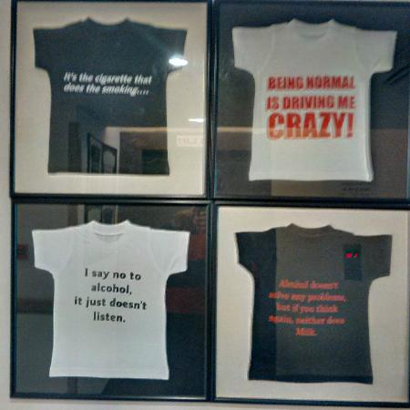 Framed T Shirts with funny slogans - Picture of Lemon Tree ... Funny Hotel Reviews