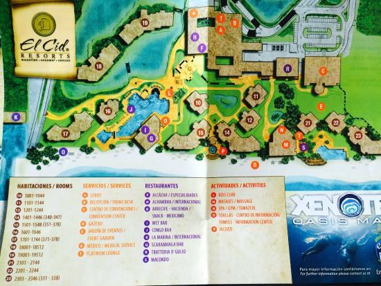 Hotel Marina El Cid Resort Map