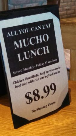 El Chico: Great lunch special