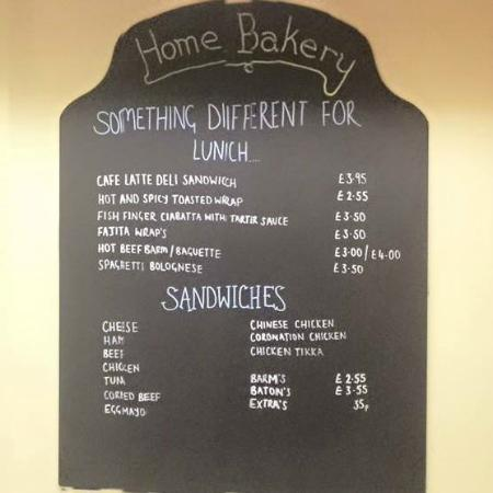 Menu 1 picture of home bakery cafe latte horwich tripadvisor home bakery cafe latte menu 1 altavistaventures Image collections