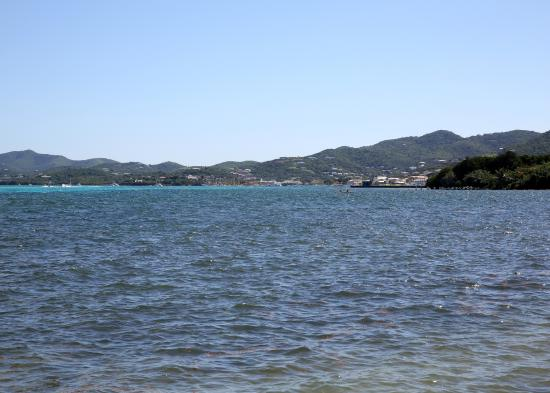 Mill Harbour Beach Resort: View of Christiansted from the beach
