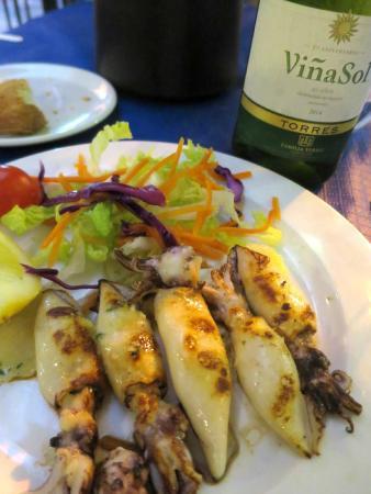Restaurante Pacomari: 子イカのグリル