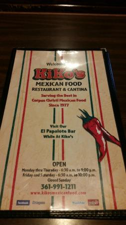 Kiko S Mexican Restaurant Corpus