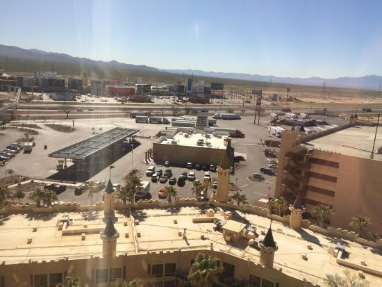 Whiskey Pete's Hotel & Casino: view from room, across hwy at shopping mall