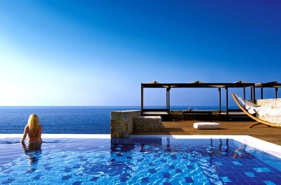 Royal villa sea view with private pool picture of for Luxury beach hotels