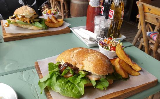 Zucchini Restaurant: A vegetarian and a smoked chicken Panini