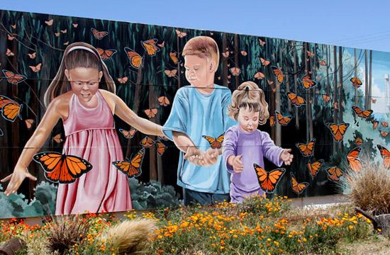 Monarch Butterfly Mural (Photo Courtesy of ExploreLompoc.com)