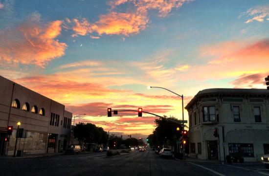 Old Town Lompoc at Sunset (Photo Courtesy of ExploreLompoc.com)