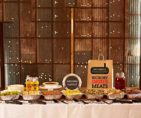 Catering Buffet Setup Picture Of Dickeys Barbecue Pit North - Catering buffet table setup