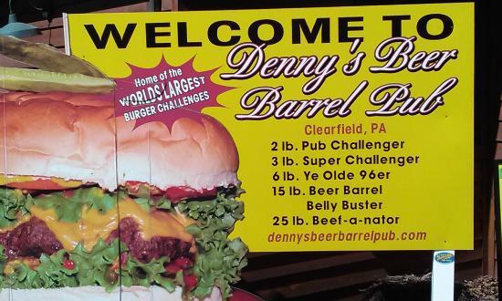 Denny's Beer Barrel Pub: Denny's burger challanges