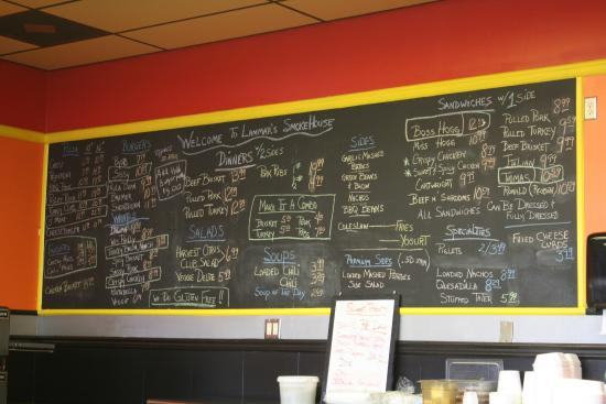Lammar's Smokehouse BBQ: Menu