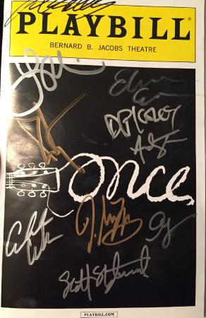 Once - A New Musical: Autographed Playbill