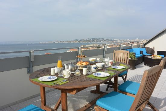Terrasse Vue Mer Plougastel : restaurant chez Aldo u00e0 proximit u00e9 de Bleu Clanques