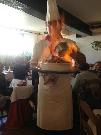 Restaurante El Mirlo Blanco, Mijas. Grand Manier Souffle