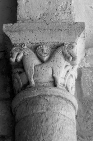 Bunzac, France: Chapiteau roman XIIe