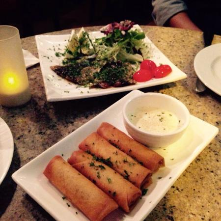 Le Souk: Goat cheese cigars (spring rolls), grilled sardines