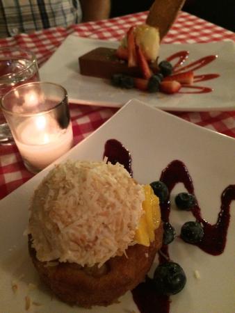 Catalonia Restaurant : Both desserts