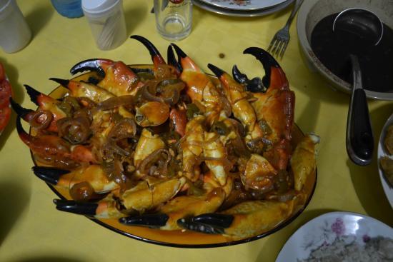 Hostal Casa Messi: Cena con granchi