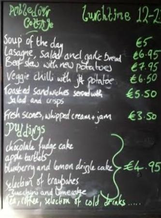 Ambledown Tea Rooms : Lunch Time Menu  12 - 2.30 Daily