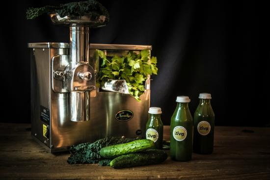 Detox program with green juices made with Norwalk Juicer