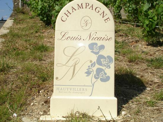 Mailly-Champagne, Francia: Vineyard Stone marker in Hautvillers