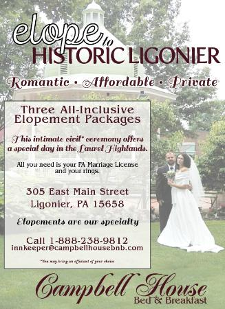 Campbell House Bed and Breakfast : Elopements our Specialty