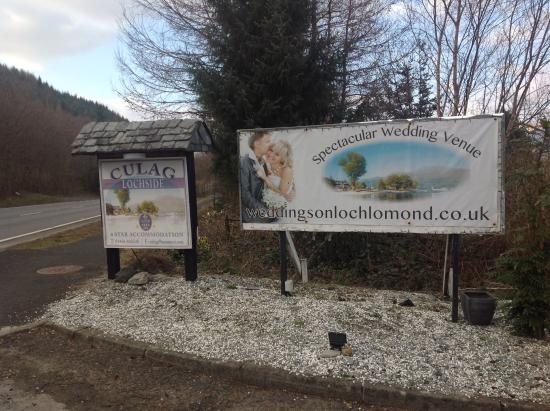 Culag Lochside Guest House: look out for the sign after passing the exit for Luss on the way north.