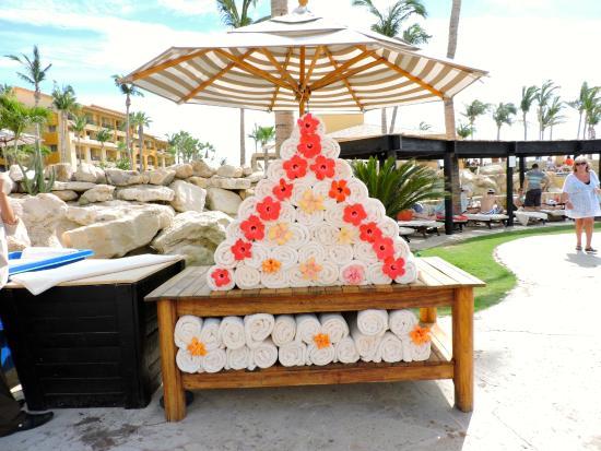 Grand Fiesta Americana Los Cabos All Inclusive Golf Spa Beach Towel Set Up