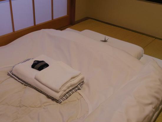 Ryokan Sawanoya: Japanese Futon bed