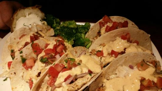 Red Lobster: Soft Tacos made with Chicken (for my non-seafood loving hubby)