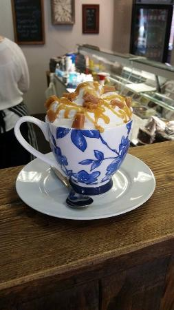 Deli-licious: One of our delicious hot chocolate specials made with Belgian chocolate.