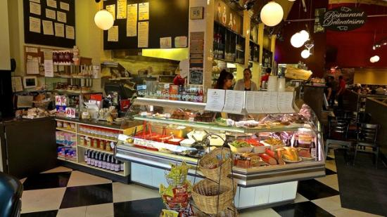 Saul's Restaurant and Deli: Deli Take Out Counter at Saul's