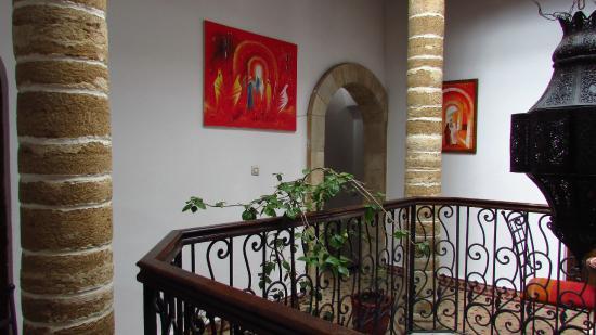 Caverne d'Ali Baba : Il pianerottolo esterno alle camere