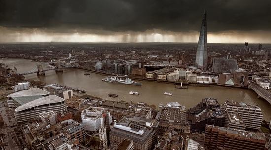London, UK: Receding Storm