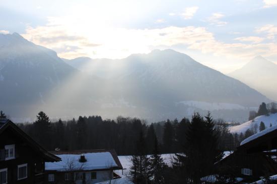 Hotel Bergruh: Blick vom Balkon
