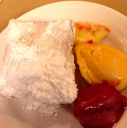 Nola on the Square: Beneits and Fruit Sorbet