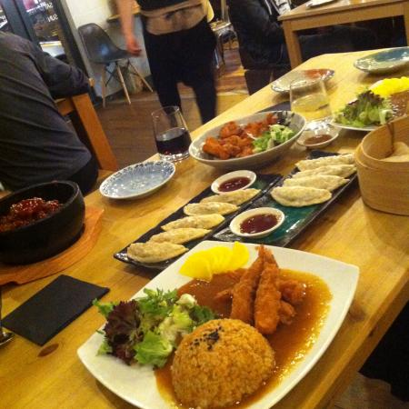 my table full of good food picture of topokki birmingham