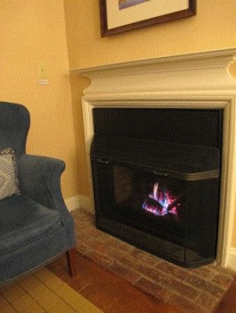 Lord Jeffery Inn: Gas fire in Room 207