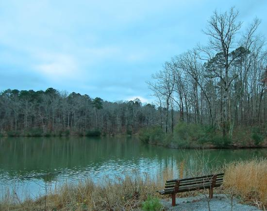 Meridian, MS: Benches along the walking trails
