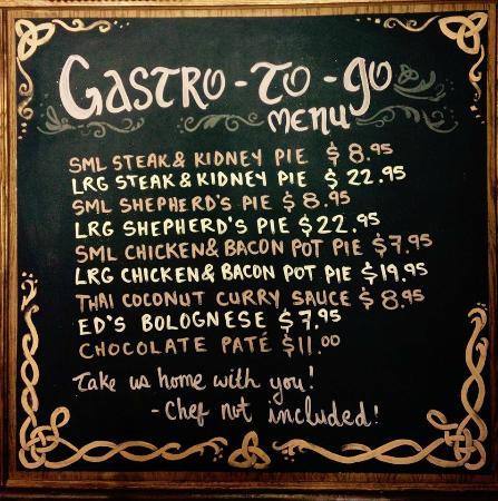 The Dam Pub Gastropub: The Dam Pub's frozen Gastro to Go....take us home with you!