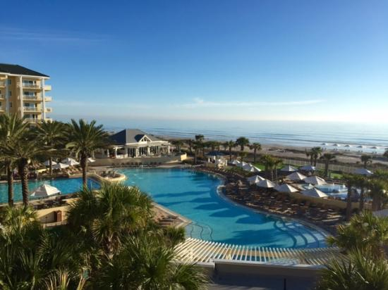 Omni Amelia Island Plantation Resort Beautiful View From Our Hotel Room Of The Pool And