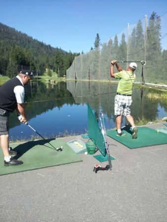 Kahler Glen Golf & Ski Resort: Our aqua driving range