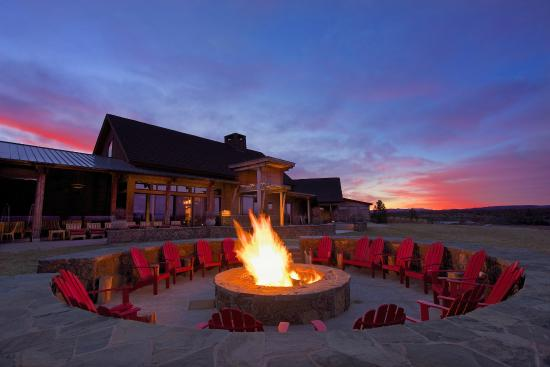 Range Restaurant and Bar: Warm up around the oversized firepit at Range