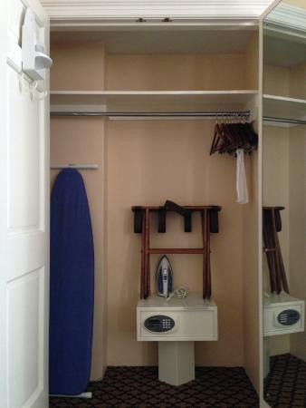 The Lafayette Hotel: closet in room