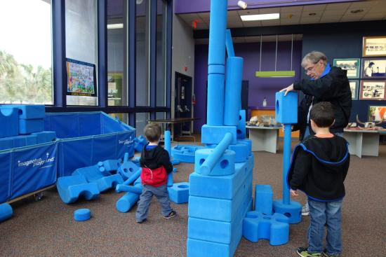 Corpus Christi Museum of Science and History: Building blocks in Children's Area