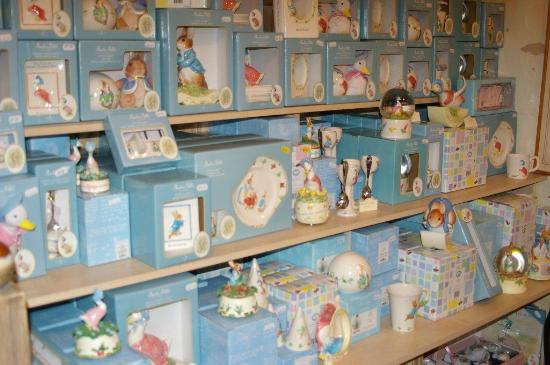 House of The Tailor of Gloucester - Beatrix Potter Shop and Museum: A display of