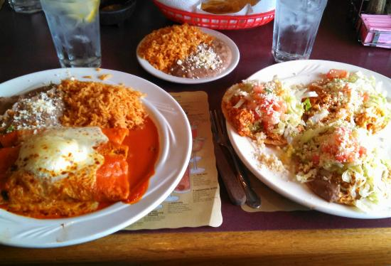 Lowell, IN: Enchiladas and Tostadas